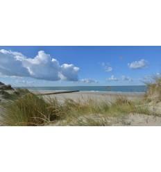 Fotowand zee strand duinen burgh haamstede wanddecoratie fotobehang muurposter natuurfoto natuurfotowand gerard veerling