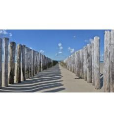 Burgh Haamstede strandpalen zee strand Fotowand wanddecoratie fotobehang muurposter natuurfoto natuurfotowand gerard veerling