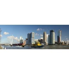fotowand Rotterdam Skyline en Kop van Zuid. fotobehang, muurposter, gerard veerling fotowandenshop.nl