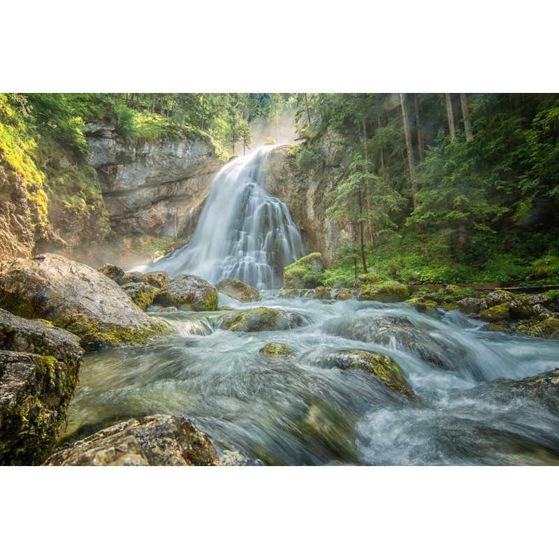 fotowand fotobehang muurposter Oostenrijk Gollingen waterval