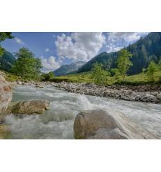 Fotowand fotobehang muurposter bergbeek bergrivier Oostenrijk Smaragdtahl