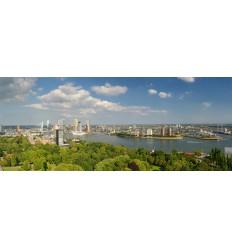 fotowand fotobehang muurposter Rotterdam Skyline en Kop van Zuid