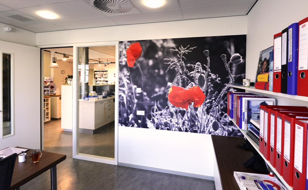 Wandfoto Kantoor zorgcentrum. fotowandenshop.nl
