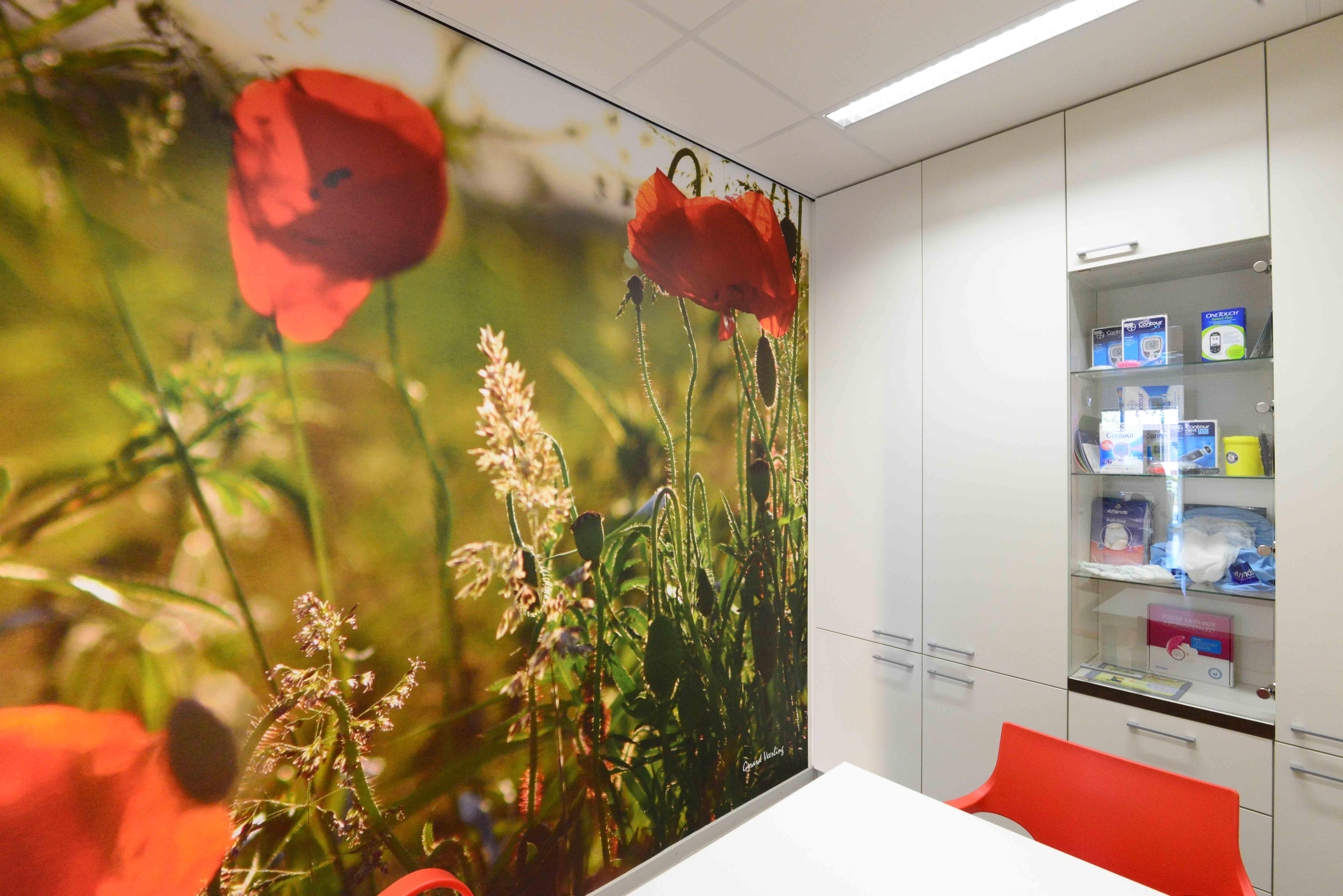 Spreekkamer fotowand. Fotowandenshop.nl