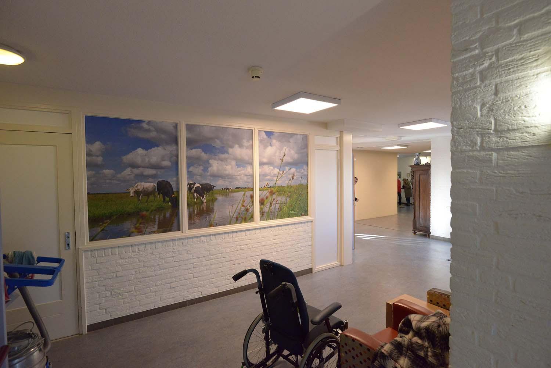 fotowand in woon-zorgcentrum