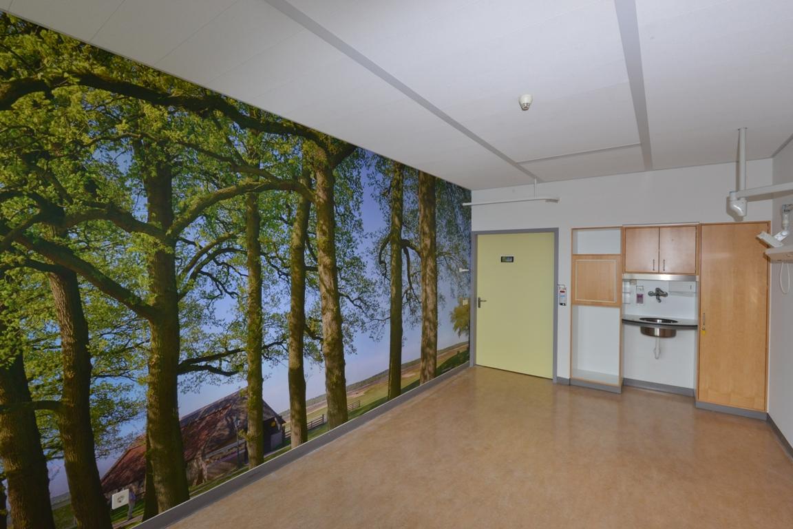Fotowand patiëntenkamer ziekenhuis. Fotowandenshop.nl