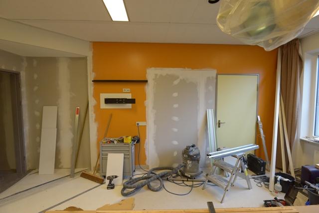 Fotobehang verloskamer voor de renovatie. fotowandenshop.nl